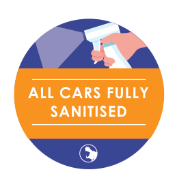 All cars filly sanitised